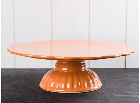 IB Laursen Mynte Tortenplatte Orange Keramik Geschirr Serie Pumpkin Spice Kuchenplatte