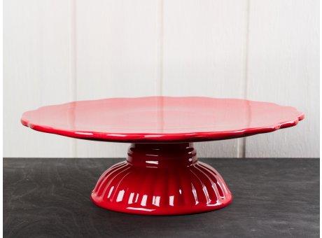 IB Laursen Mynte Tortenplatte rot Keramik Geschirr Serie Strawberry Kuchenplatte