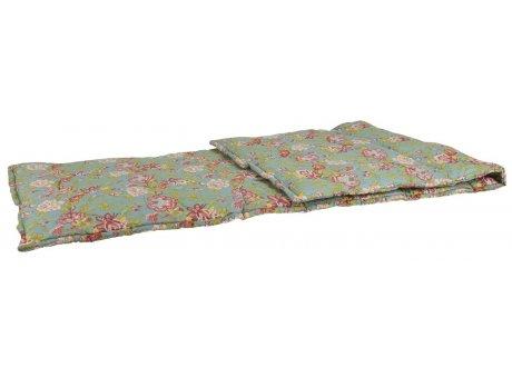 IB Laursen Picknickdecke Petrol mit Blumen Muster 70x190 Baumwolle Ib Laursen Matratze Nr 07003-46