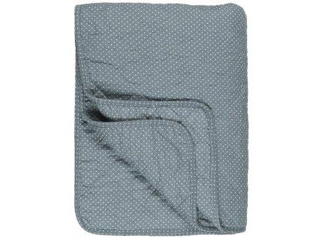IB Laursen Quilt Blau mit Pünktchen 130x180 Baumwolle Ib Laursen Tagesdecke Punkte Muster Nr 0798-13