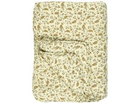 IB Laursen Quilt Hellgelb mit Blumen Gelb 130x180 Baumwolle Ib Laursen Tagesdecke Muster Nr 0724-00