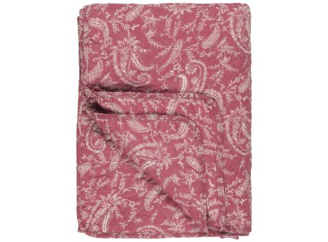 IB Laursen Quilt Rosa mit Paisley Weiss 130x180 Baumwolle Ib Laursen Tagesdecke Muster Nr 0737-07