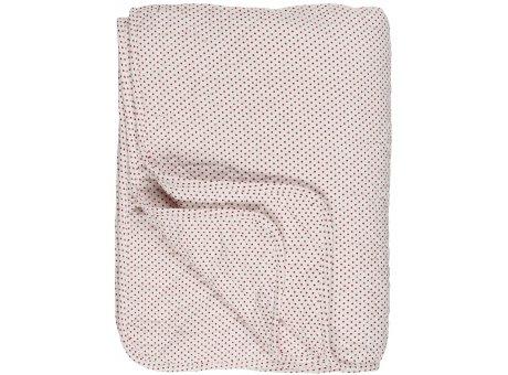 IB Laursen Quilt Weiß Rot Punkte 130x180 Baumwolle Ib Laursen Tagesdecke gepunktet Nr 07999-33