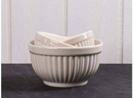 IB Laursen Schalensatz Mini beige Mynte Keramik Kollektion Latte 3er Set Schüsseln