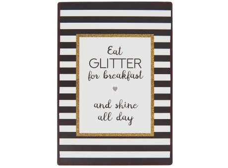 IB Laursen Schild Eat Glitter all day 20cm Metallschild