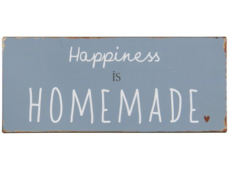 IB Laursen Schild Happiness is homemade Deko Metallschild
