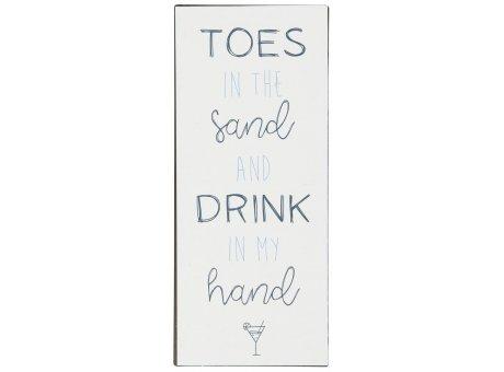 IB Laursen Schild Toes in the Sand Metallschild zum Hängen Sommerdeko IB Produkt Nr 70021-00