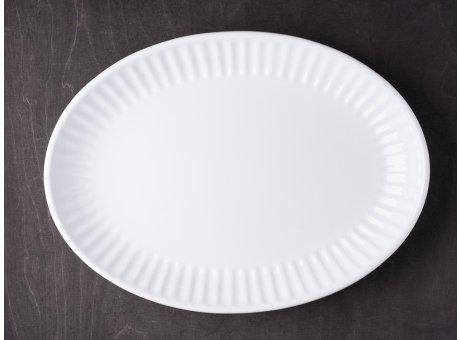 IB Laursen Servierschale Mynte weiß 30 cm Keramik Geschirr Schüssel Serie Pure White