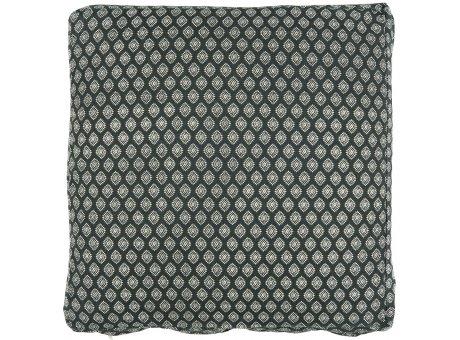 IB Laursen Sitzkissen Bezug Box Kissen 45x45x3 cm Schwarz mit Muster IB Laursen Kissenhülle Nr 66034-24