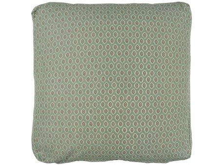 IB Laursen Sitzkissen Bezug Box Kissen 45x45x3 cm Staubig Grün mit Muster Berry IB Laursen Kissenhülle Nr 66039-81
