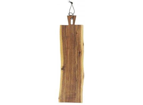 IB Laursen Tapasbrett UNIKA Länglich Akazienholz Schneidebrett 600 cm Servierbrett IB Laursen Produkt Nr 17003-00