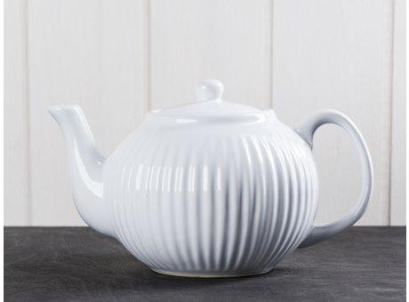 IB Laursen Teekanne Mynte weiß Keramik Geschirr Serie Pure White