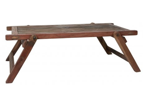 IB Laursen Tisch Coffee Table Unika klappbarer Militär Tisch 120 cm Unikat