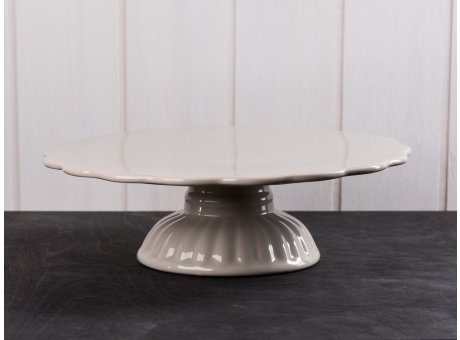 IB Laursen Tortenplatte beige Mynte Keramik Kollektion Latte