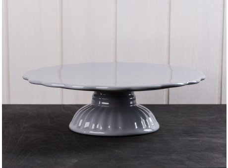 IB Laursen Tortenplatte grau Mynte Keramik Kollektion French Grey