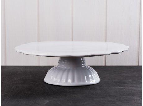 IB Laursen Tortenplatte weiß Mynte Keramik Kollektion Pure White