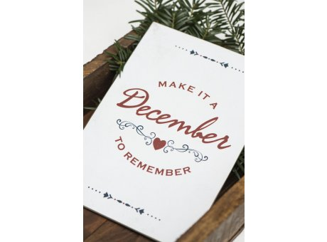 IB Laursen Weihnachtsdeko Schild aus Metall Make it a december to remember