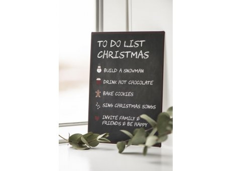 IB Laursen Weihnachtsdeko Schild aus Metall To do List Christmas in schwarz