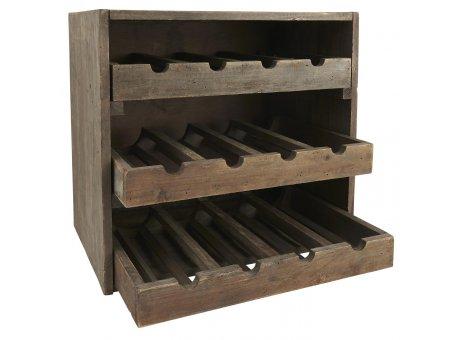 IB Laursen Weinregal für 12 Flaschen Regal aus Holz mit 3 Schubladen für je 4 Flaschen IB Laursen Produkt Nummer 5215-14