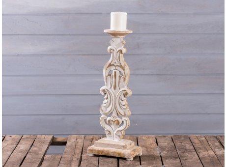 Kerzenleuchter Babette 46 cm hoch Holz Ornament