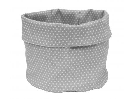 Krasilnikoff Brotkorb Punkte Grau Weiß Micro Dots Baumwolle  Krasilnikoff Design Nr BB566