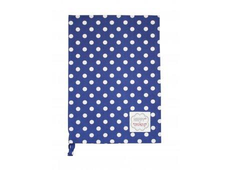 Krasilnikoff Geschirrtuch dunkelblau mit weißen Punkten Geschirrhandtuch aus Baumwolle blau weiß