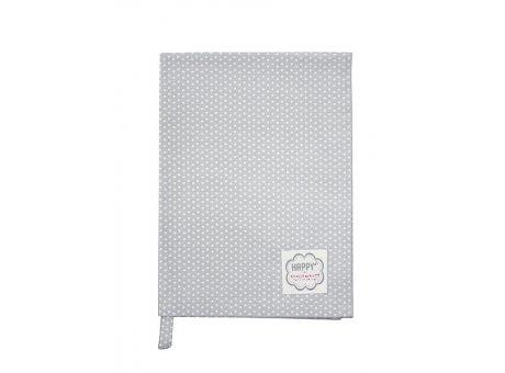 Krasilnikoff Geschirrtuch Micro Dots Punkte hellgrau weiß