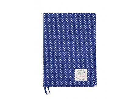 Krasilnikoff Geschirrtuch Micro Punkte dunkelblau Geschirrhandtuch blau mit weißen Punkten
