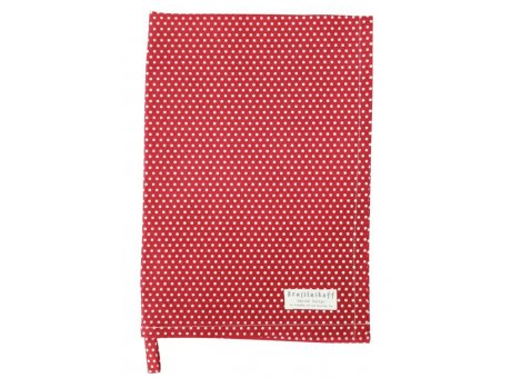 Krasilnikoff Geschirrtuch Micro Punkte Rot Weiss Baumwolle Geschirrhandtuch 50x70 Krasilnikoff Küchentuch Nr KW572