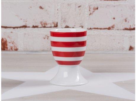 Krasilnikoff Happy Eierbecher Streifen rot weiß gestreift Porzellan Geschirr New Stripes