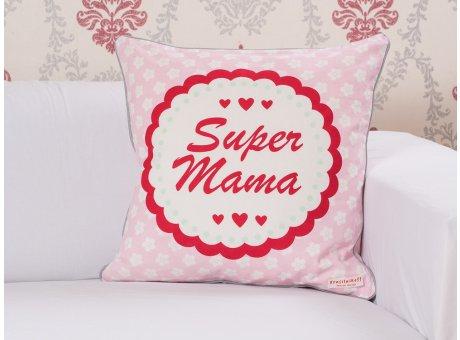 Krasilnikoff Kissenhülle 50x50 Super Mama