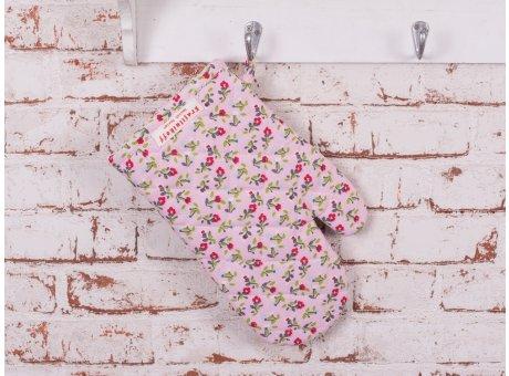 Krasilnikoff Ofenhandschuh Romantik Blume rosa bunt