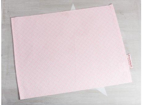 Krasilnikoff Tischset Daisy Rosa Platzset aus Baumwolle pink mit weißen Blumen