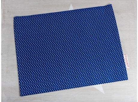 Krasilnikoff Tischset Punkte Blau Platzset aus Baumwolle dunkelblau weiß gepunktet
