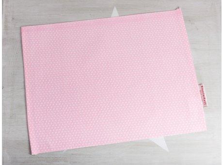 Krasilnikoff Tischset Punkte Rosa Platzset aus Baumwolle pink weiß gepunktet