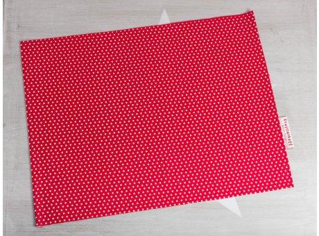 Krasilnikoff Tischset Punkte Rot Platzset aus Baumwolle rot weiß gepunktet