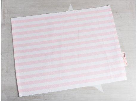 Krasilnikoff Tischset Streifen Rosa Platzset aus Baumwolle pink weiß gestreift