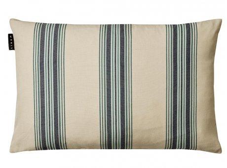 Linum Kissen Wyler Blau Gestreifter Kissenbezug aus Baumwolle Kissenhülle mit Streifen Größe 40x60 cm