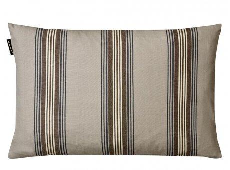 Linum Kissen Wyler Grau Gestreifter Kissenbezug aus Baumwolle Kissenhülle mit Streifen Größe 40x60 cm