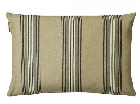 Linum Kissen Wyler Grün Gestreifter Kissenbezug aus Baumwolle Kissenhülle mit Streifen Größe 40x60 cm