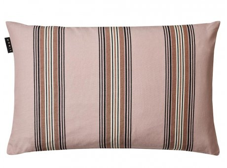 Linum Kissen Wyler Rosa Gestreifter Kissenbezug aus Baumwolle Kissenhülle mit Streifen Größe 40x60 cm
