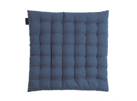 Linum Sitzkissen Pepper Blau aus Baumwolle mit Füllung Stuhlkissen Größe 40x40x3 Linum Design