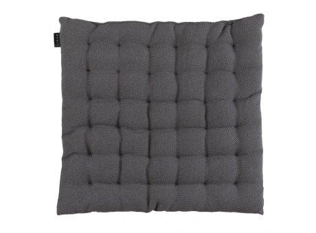 Linum Sitzkissen Pepper Granitgrau aus Baumwolle mit Füllung Stuhlkissen Größe 40x40x3 Linum Design