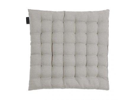 Linum Sitzkissen Pepper Hellgrau aus Baumwolle mit Füllung Stuhlkissen Größe 40x40x3 Linum Design