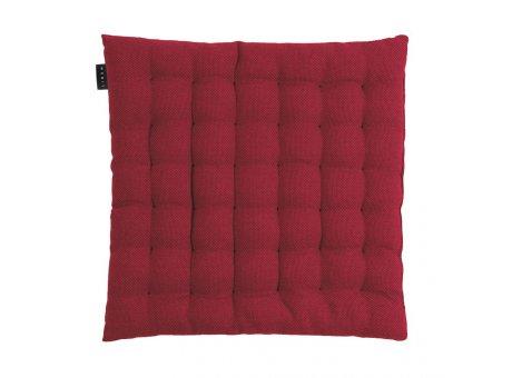 Linum Sitzkissen Pepper Rot aus Baumwolle mit Füllung Stuhlkissen Größe 40x40x3 Linum Design