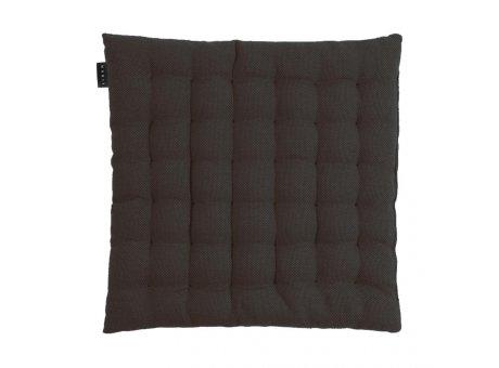 Linum Sitzkissen Pepper Schwarz aus Baumwolle mit Füllung Stuhlkissen Größe 40x40x3 Linum Design