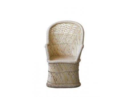 loomingville Stuhl Terrain mit hoher Lehne aus Bambus natur
