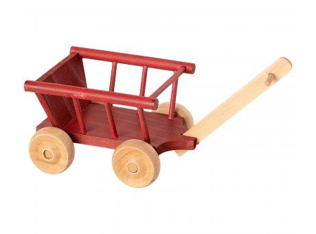 Maileg Bollerwagen Rot aus Holz mit beweglichen Rädern Wagon Micro Maileg Nr 11-9005-02