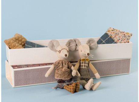 Maileg Großmutter und Großvater Maus Oma und Opa in Streichholzschachtel Mäuse 15cm hoch zum schenken und sammeln