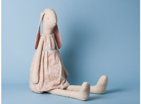 Maileg Hase Mega Light Bunny Daisy Kleid mit Blumenmuster Stofftier Kuscheltier 70cm